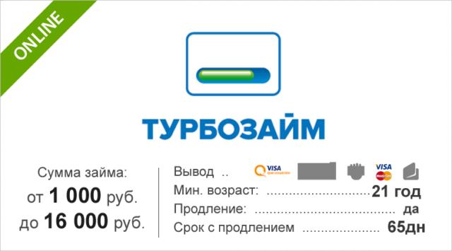 Сервис Турбозайм онлайн