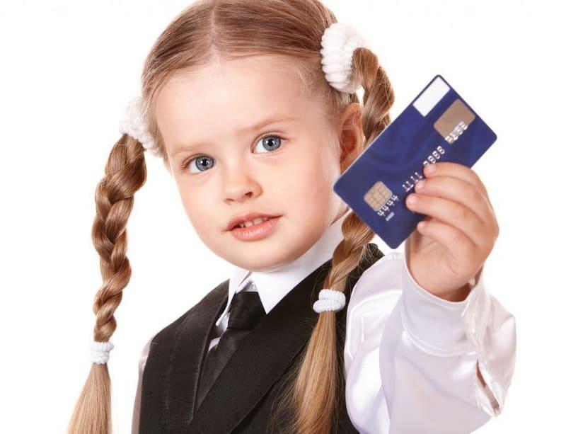 Детская банковская мини карта
