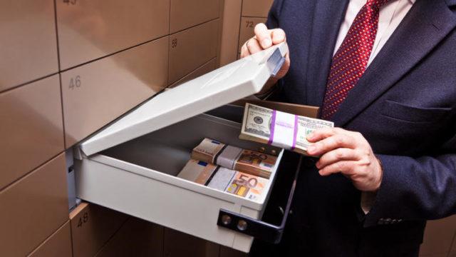 Хранение денежных средств в ячейке