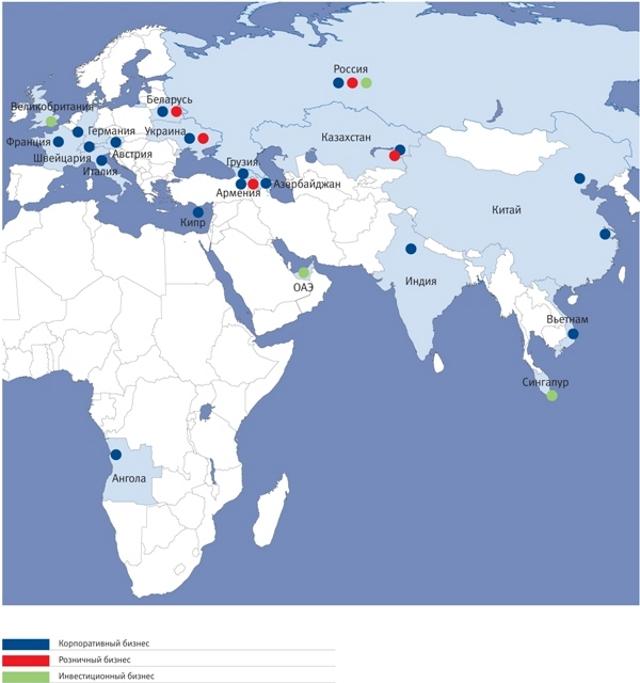 География ВТБ