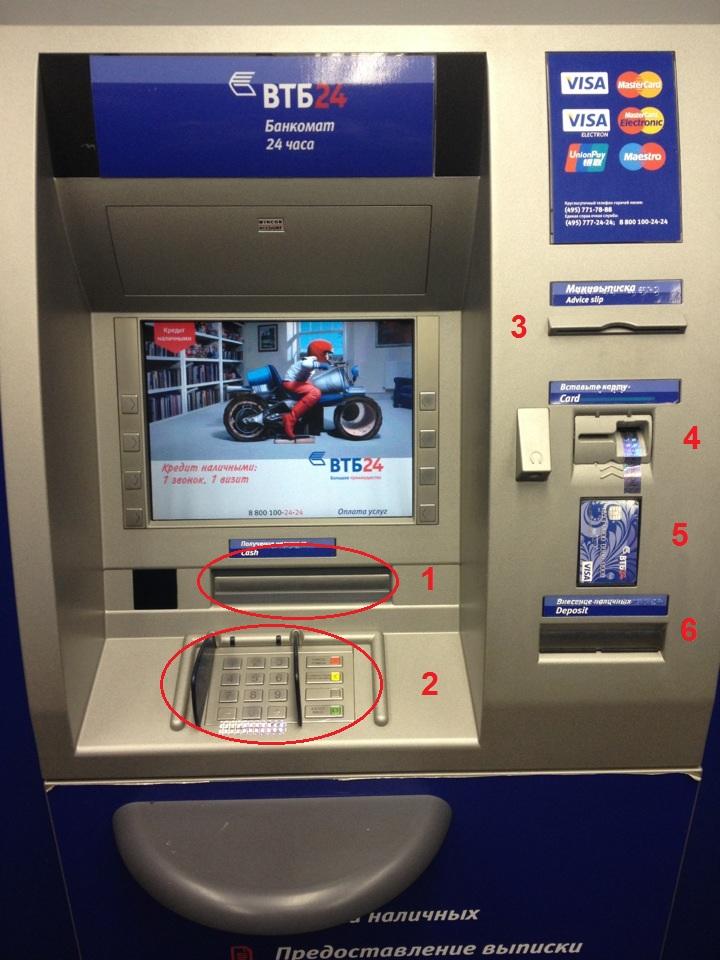 Как пользоваться банкоматом ВТБ - пошаговая инструкция (видео)