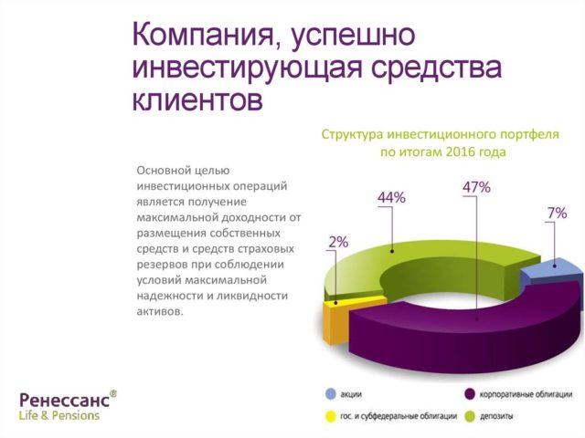 Структура инвестиционного портфеля Ренессанс