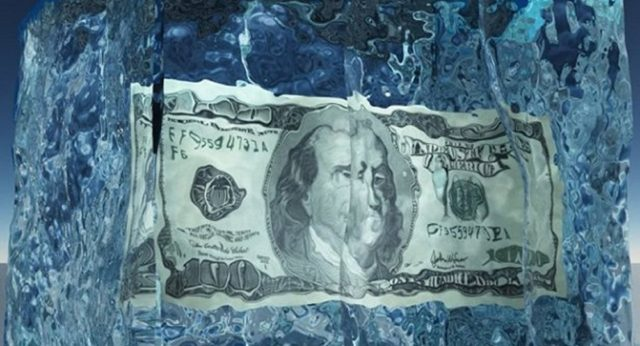 Заморозка счета