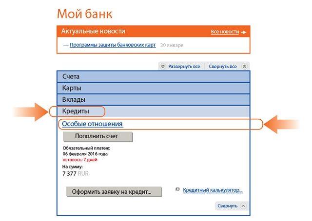 Погашение кредита через онлайн банк