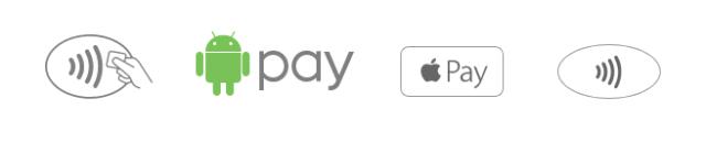 Знаки бесконтактной оплаты и знаки apple pay